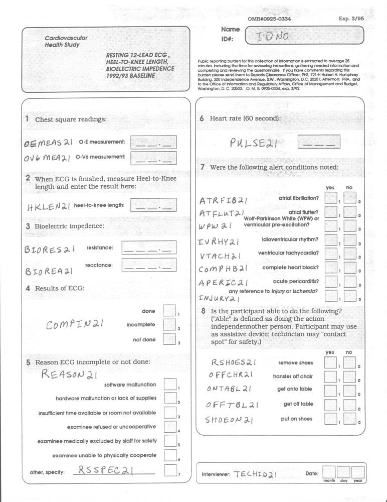 Record 21 ECG - page 1