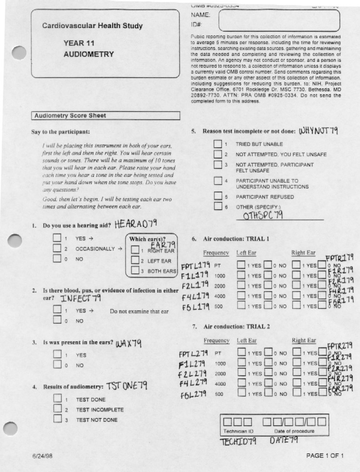 Record 79 Audiometry - page 1